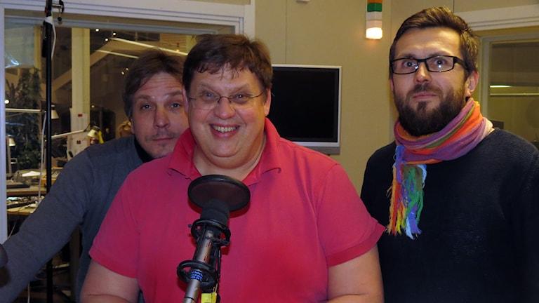 Nils Ingelmark, Erik Skagerfält och Christoffer Robin Maurin. Foto: Jonas Neuman/Sveriges Radio