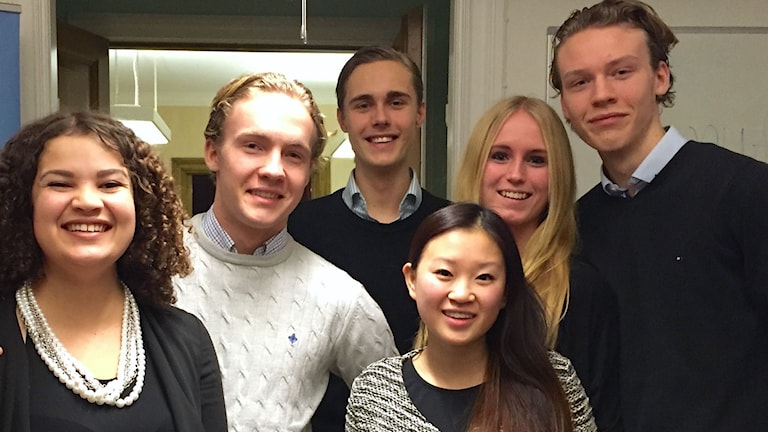 Styrelsen i Moderata ungdomsförbundet Gotland 2015. Foto: Moderaterna