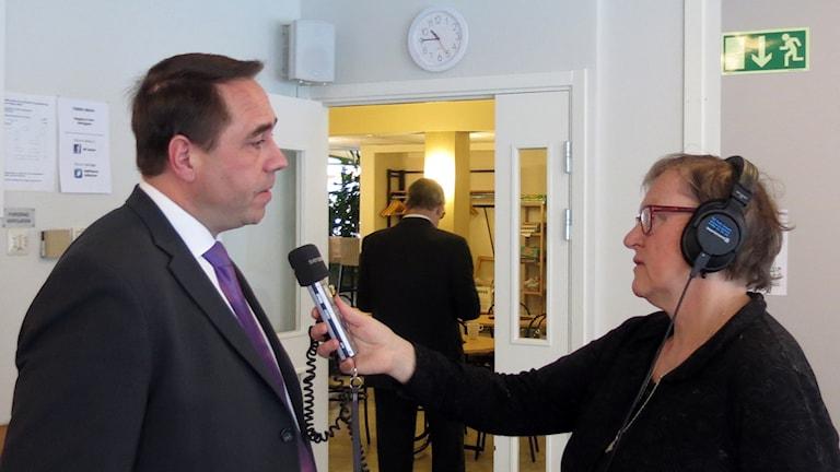 Christer Engelhardt och Gunnel Wallin. Foto: Jonas Neuman/Sveriges Radio