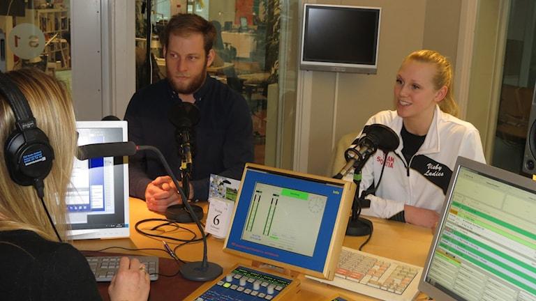 Robert Hestmann och Elin Sjöberg. Foto: Mika Koskelainen/Sveriges Radio