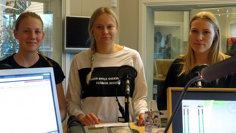 Sophia Lundmark, Anna Moberg, Olivia Ruhström. Foto: Jonas Neuman/Sveriges Radio