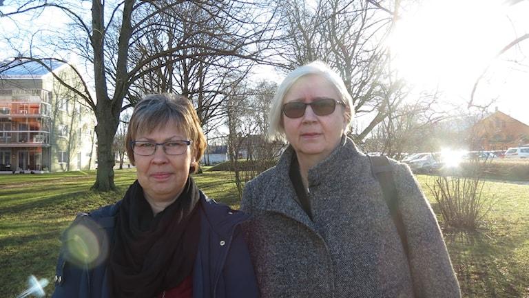 Keth Thapper och Karin Palmqvist. Foto: Hanna Sihlman/Sveriges Radio
