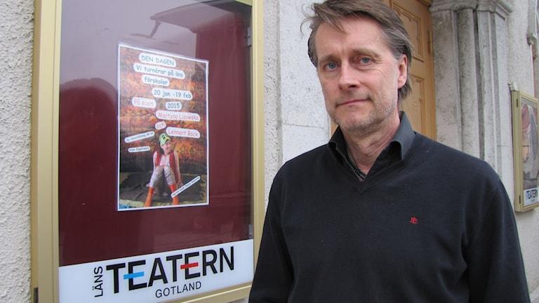 Länsteaterns chef Thomas Sundström. Foto: Ulrika Uusitalo Fernholm/Sveriges Radio
