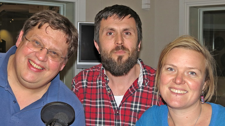 Erik Skagerfält, Christoffer Robin Maurin och Linda Larsson. Foto: Mika Koskelainen/Sveriges Radio