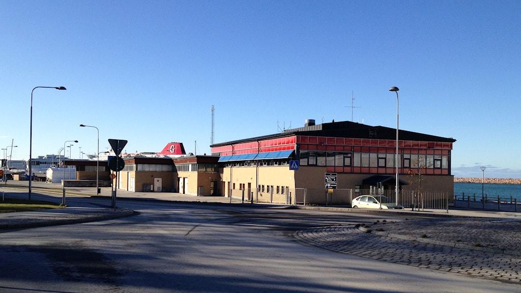 Gamla hamnterminalen i Visby hamn. Foto: Anna Jutehammar