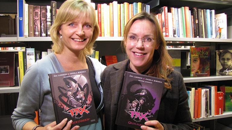 Ingela Korsell och Åsa Larsson. Foto: Ulrika Uusitalo Fernholm/Sveriges Radio
