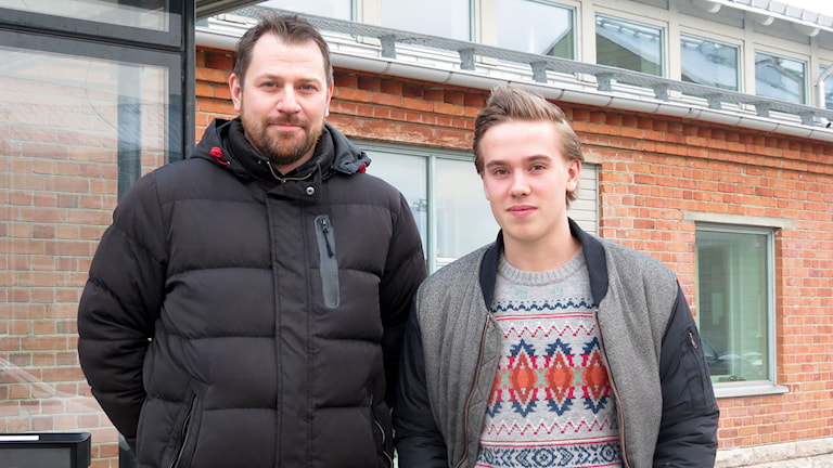 Pelle Öström och Hugo Korsell, fotbollsdomare. Foto: Malin Nordström/Sveriges Radio.