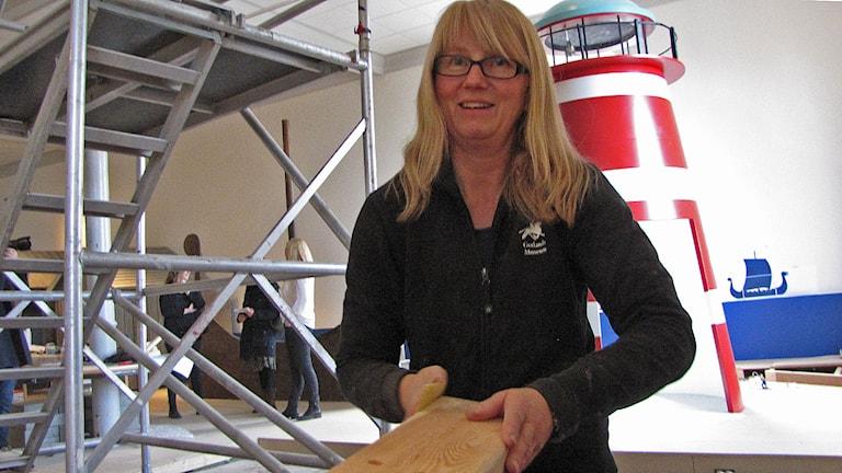 Lisen johansson, utställningstekniker Gotl Museum