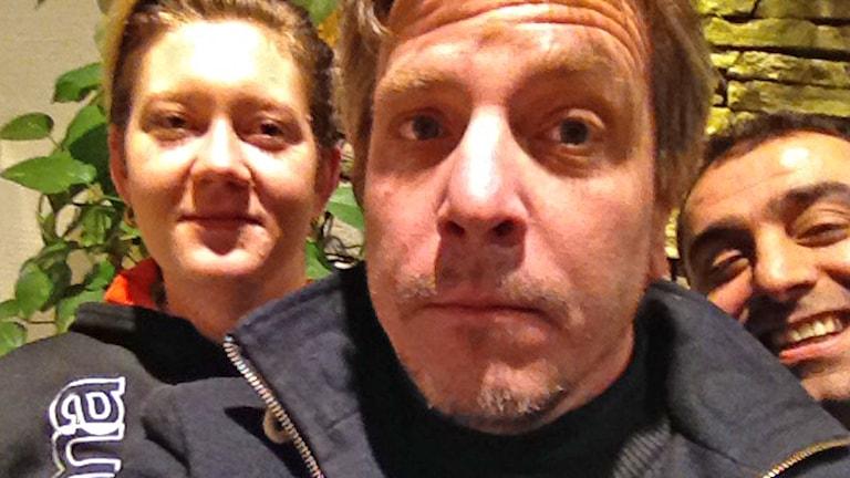 Jennie Nilsson, Nils Ingelmark och Aydin Akyuz. Foto: Sveriges Radio