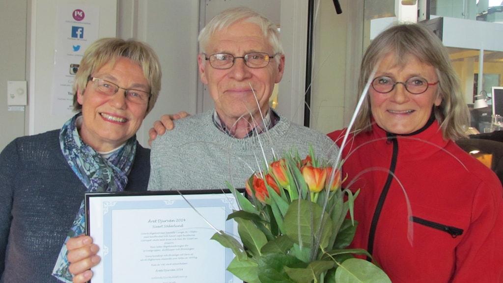 Anita Keinonen, Sivert Söderlund, Lotta Persson. Foto: Lasse Eskelind