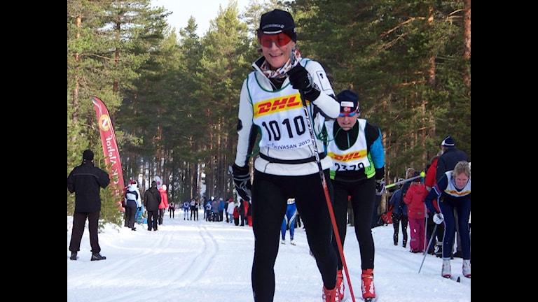 Karin Bengtsson Visborgs OK i Tjejvasan.Foto:Privat
