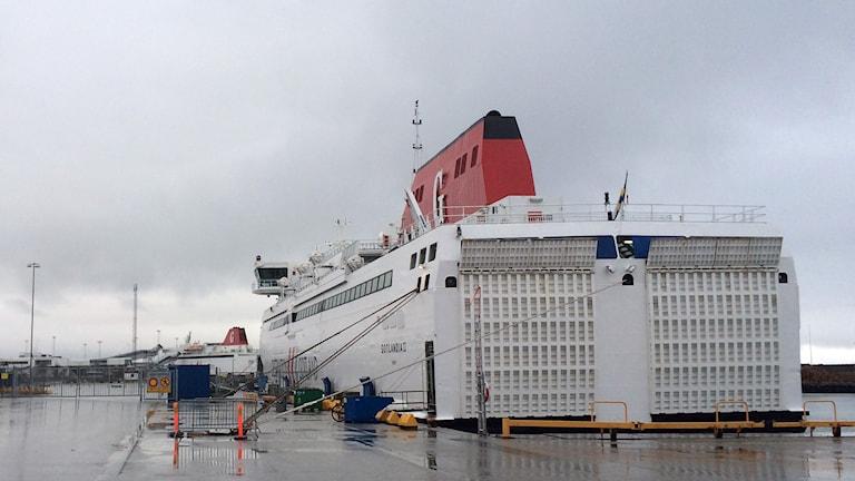 Färja i inre hamnen. Foto: Jonas Neuman/Sveriges Radio