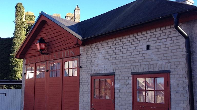 Gamla brandstationen på Klinttorget i Visby. Foto: Mika Koskelainen/Sveriges Radio
