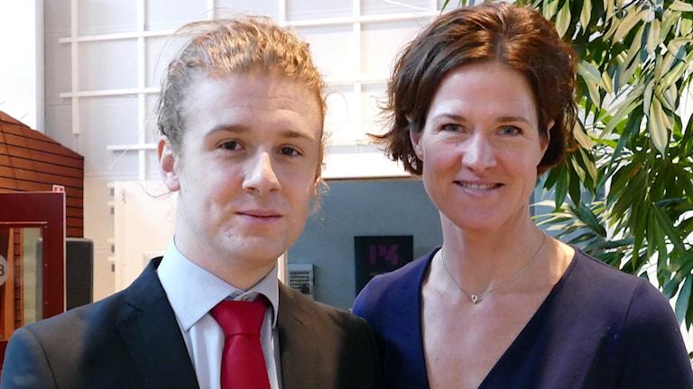 Jesper Skalberg Karlsson och Anna Kinberg Batra. Foto: Jonas Neuman/Sveriges Radio