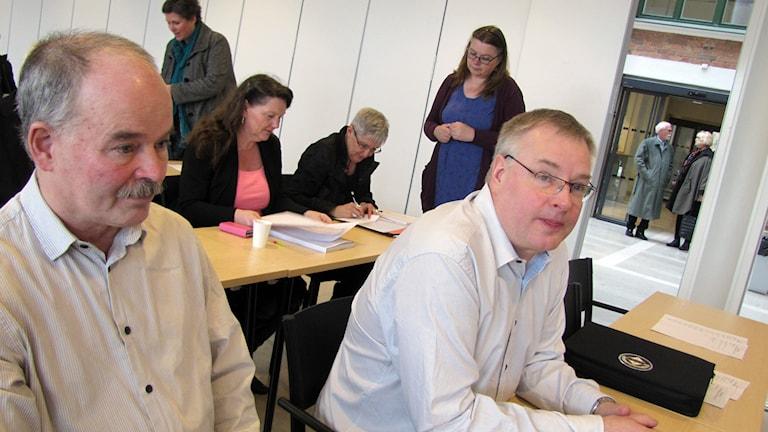 Björn Ljung och Kaj Lundmark. Foto: Karin Brindt/Sveriges Radio