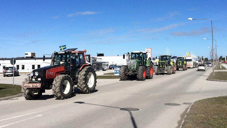 Traktormanifestation. Foto: Torbjörn Andersson/Sveriges Radio