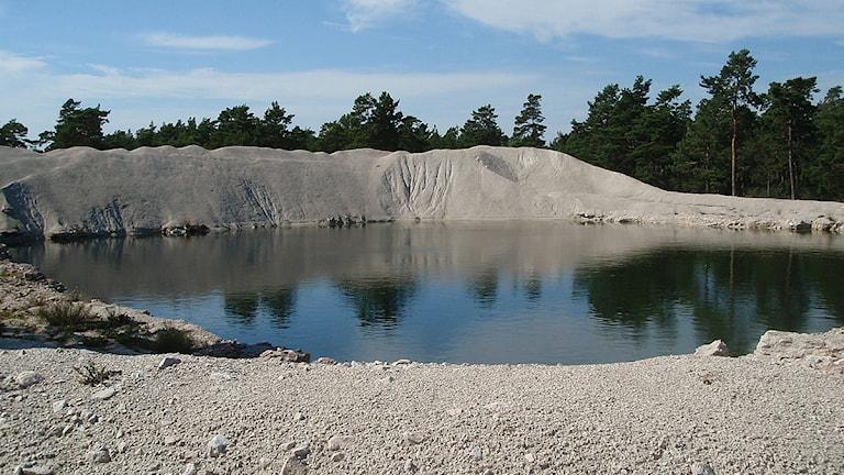 Nordkalks provbrott vid Ducker i Bunge. Foto: Clary Winberg/Sveriges Radio