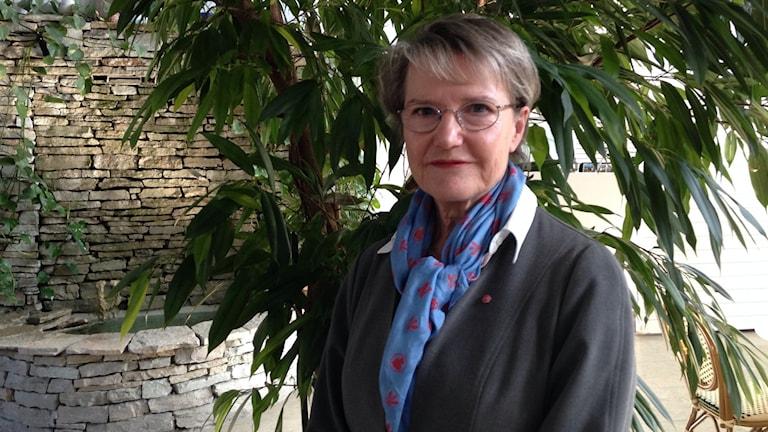 Pohjoismaisesta yhteistyöstä vastaava ministeri Kristina Persson. Kuva/Foto: Katarina Hedström/Sveriges Radio