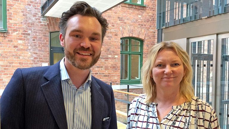 Kalle Risp och Veronika Lindstrand Kant. Foto: Gunnel Wallin/Sveriges Radio