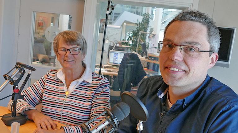 Inger Harlevi och Stefaan De Maecker. Foto: Mika Koskelainen/Sveriges Radio