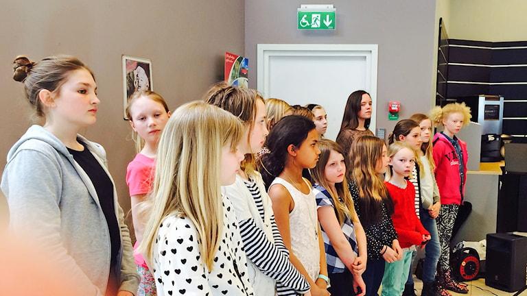 Barnkör. Foto: Karin Brindt/Sveriges Radio