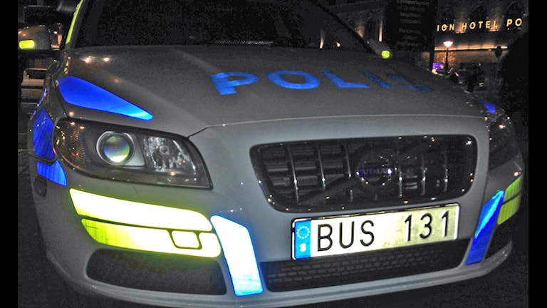 Polisbil. Foto: Katarina Hedström/Sveriges Radio