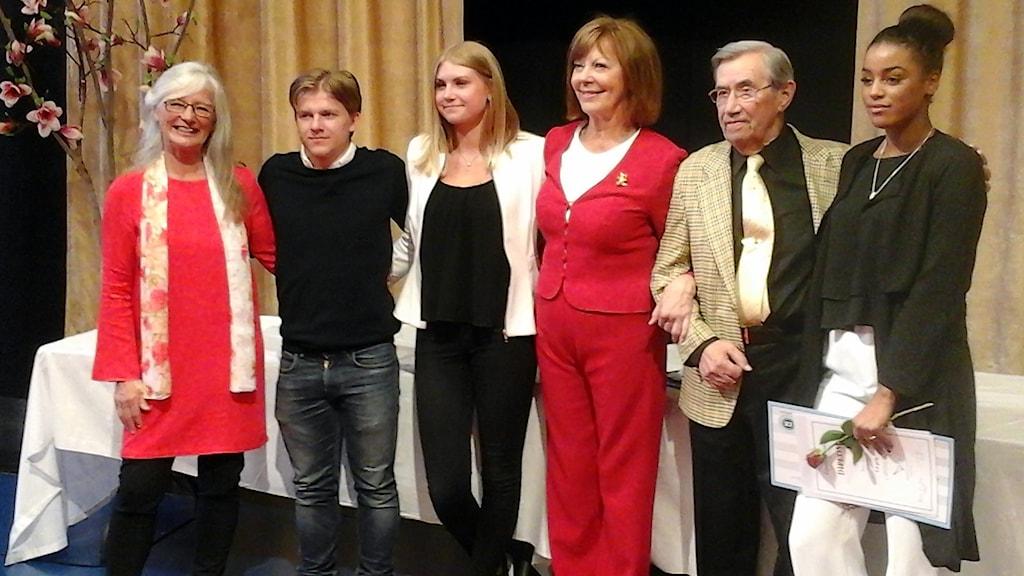 Kerstin Blomberg, August Magnusson, Matilda Larsson, Lill Lindfors, Emrich Roth och  Nora Dome.Foto: Maria Cederberg