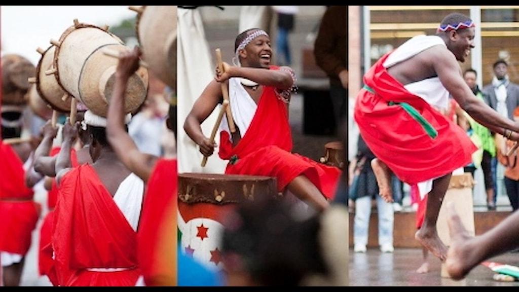 Burundisk dans- och musikföreställning. Foto: Privat.