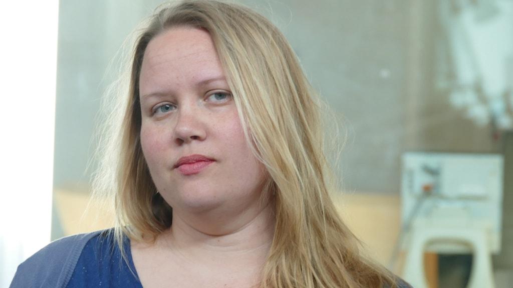 Journalisten Sofia Jönsson. Foto: Lasse Eskelind/Sveriges Radio