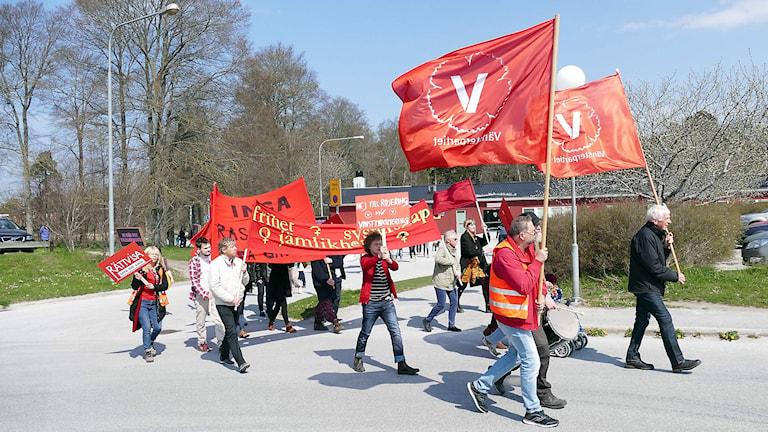 Förstamaj demonstration. Foto: Jonas Neuman/Sveriges Radio