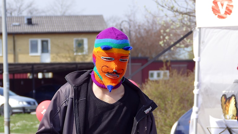 Trumslagare vid förstamajdemonstration. Foto: Jonas Neuman/Sveriges Radio