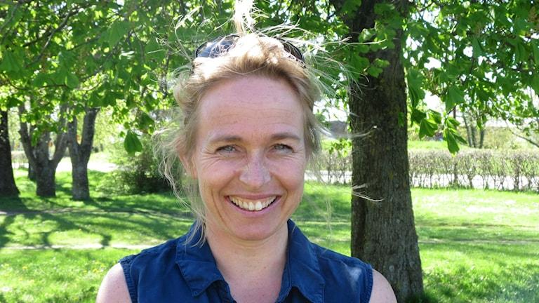 Gynekologen Pernilla Åberg är förvånad, glad och stolt över resultatet. Foto: Hanna Sihlman/SR Gotland