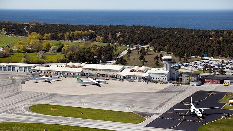 Visby flygplats. Flygfoto: Gunnar Britse
