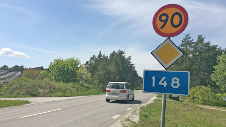 Länsväg 148.
