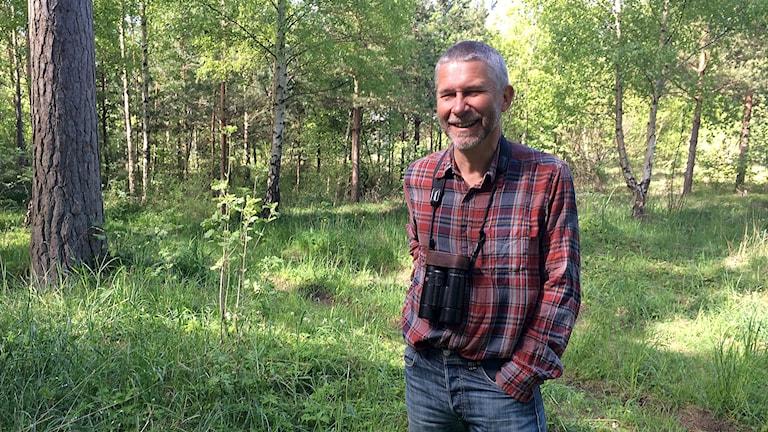 Ornitolog Jim Sundberg. Foto: Malin Nordström/Sveriges Radio.