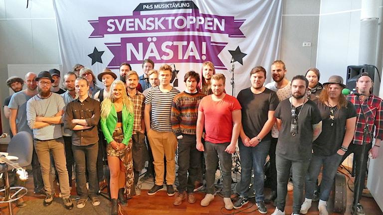 Finalisterna i Svensktoppen Nästa Gotland 2015. Foto: Mika Koskelainen/Sveriges Radio