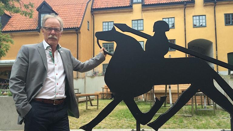 Lars Sjösvärd chef Gotlands museum. Foto: Ulrika Uusitalo Fernholm/Sveriges Radio