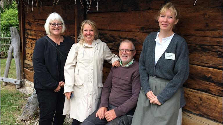 Maj-Gun Blomberg, Ulrika Mebus, Anders Lundkvist och Ulrika Pettersson. Foto: Ulrika Uusitalo Fernholm/Sverigesradio