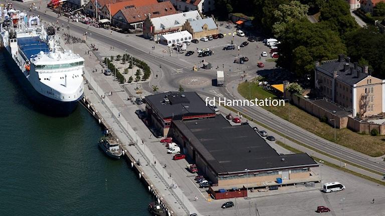 Gamla hamnterminalen i Visby. Foto: Gunnar Britse
