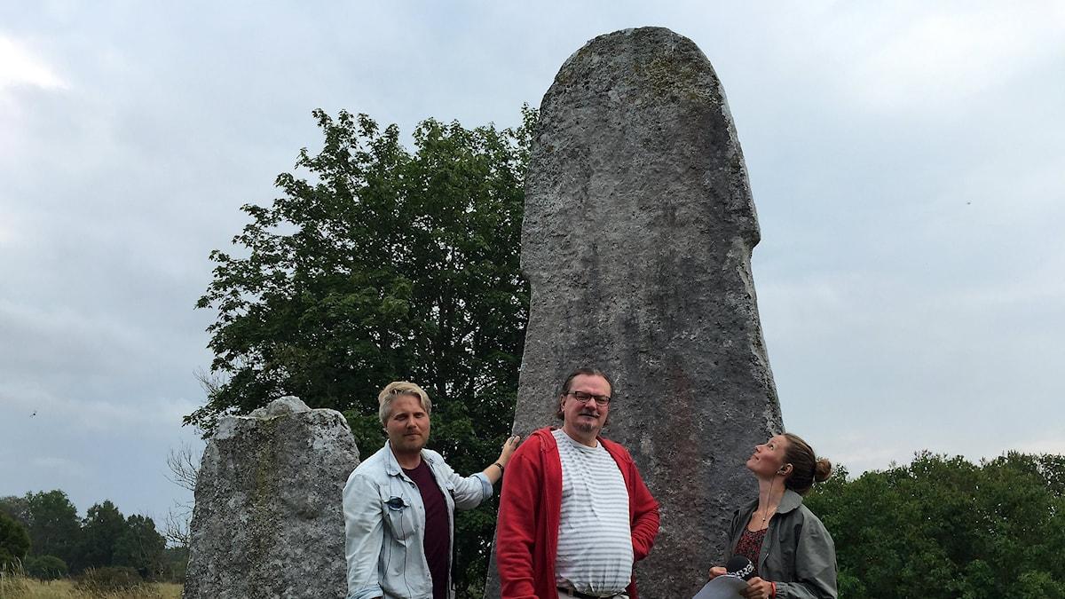 Anton Kalm, Gustaf Svedjemo och Amanda Heijbel.