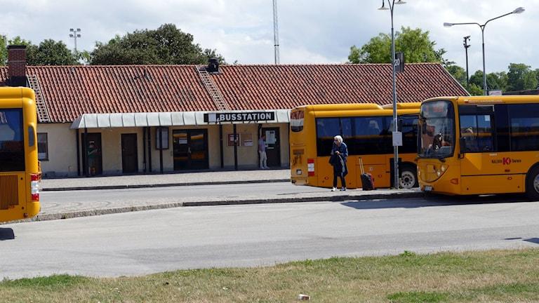 Bussstationen i Visby. Foto: Jonas Neuman/Sveriges Radio