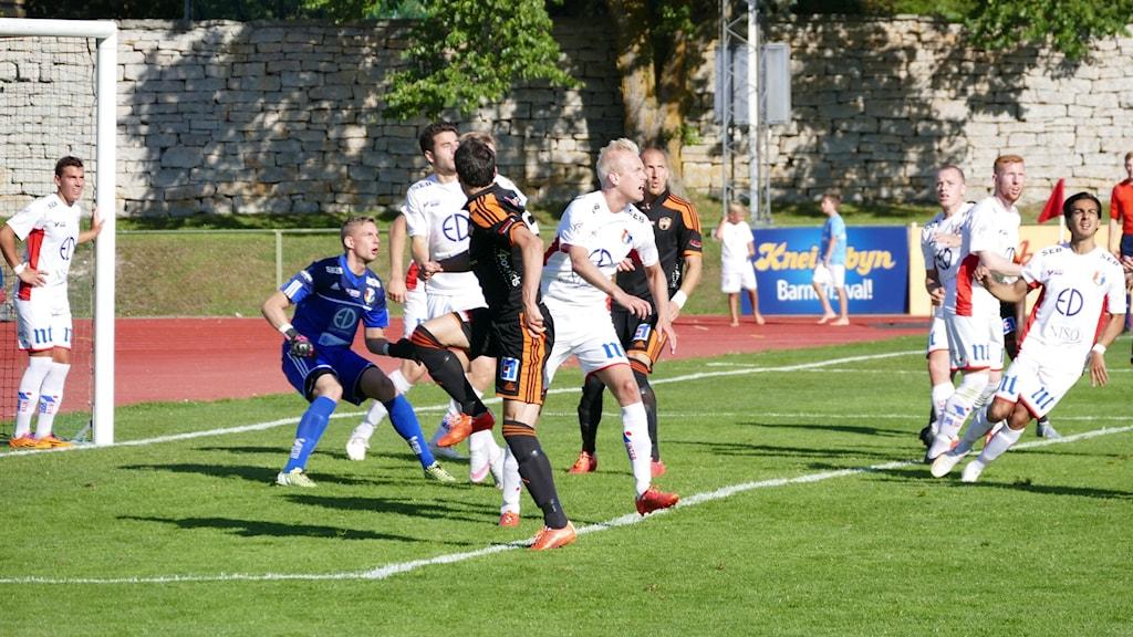 FC Gute mot Assyriska. Foto: Eva Didriksson/Sveriges Radio Gotland