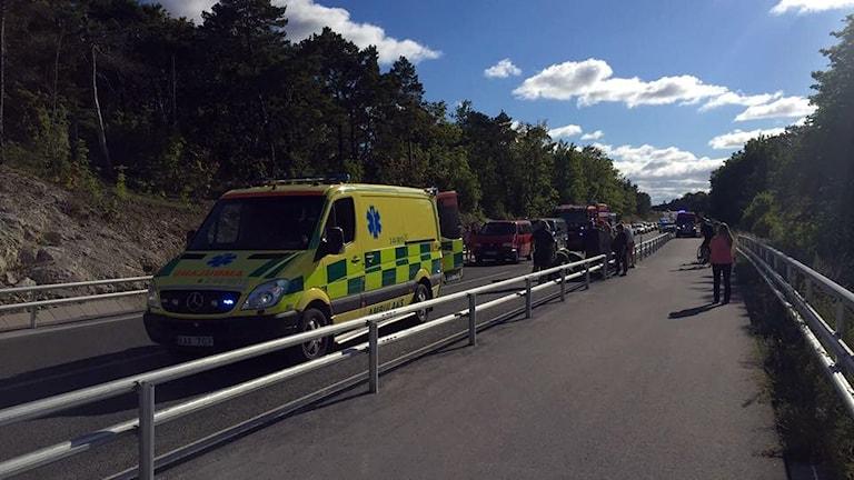 Olycka. Foto: Sveriges Radio