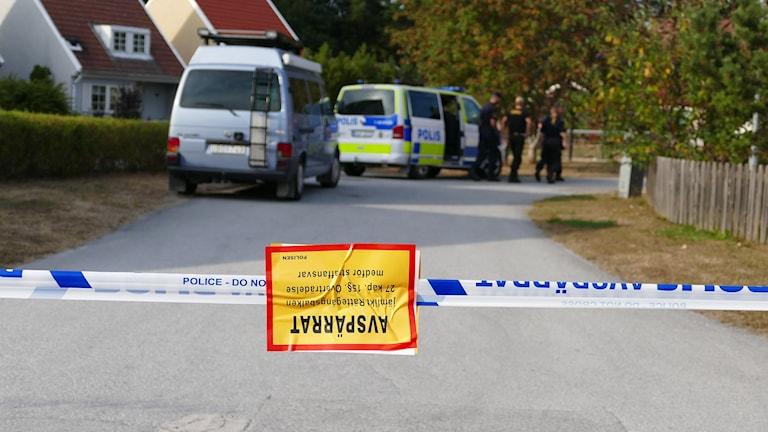 Polisavspärrning. Foto: Jonas Neuman/Sveriges Radio