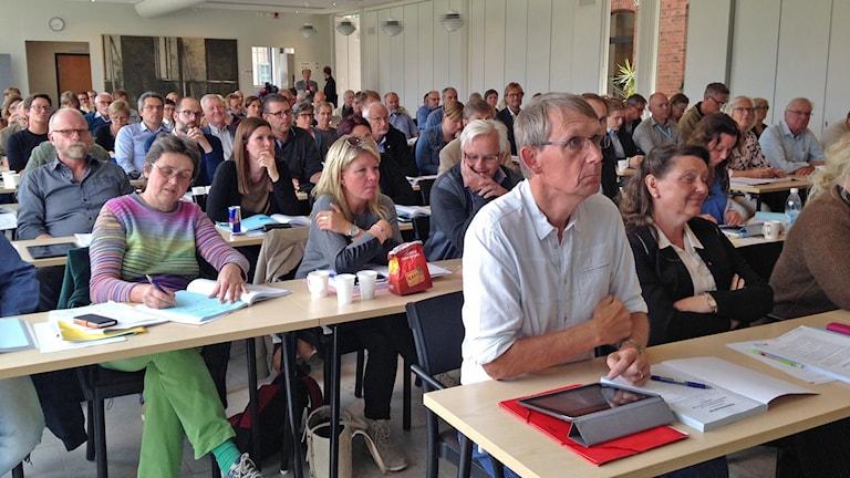Gotlands regionfullmäktige. Foto: Johan Hellström/Sveriges Radio