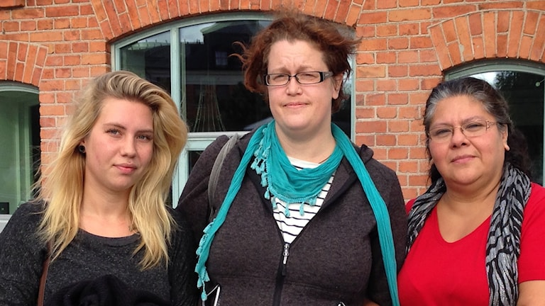 Chanine Ahlqvist, Jessica Cederblad och Tony Börjesdotter Mauritzon. Foto: Jack Lantz/Sveriges Radio