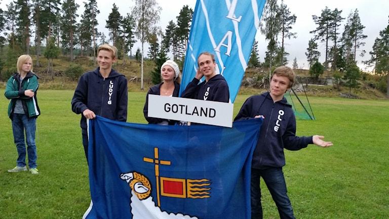 Gotländska ungdomar vid SM i orientering