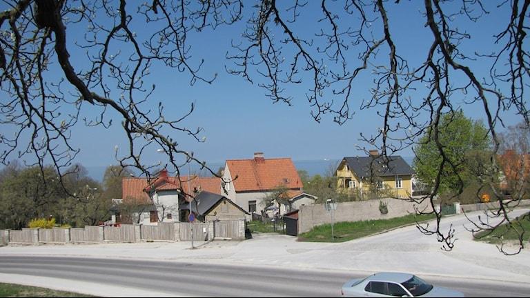 Kvarteren runt Visby lasarett. Anna Jutehammar /Sveriges Radio