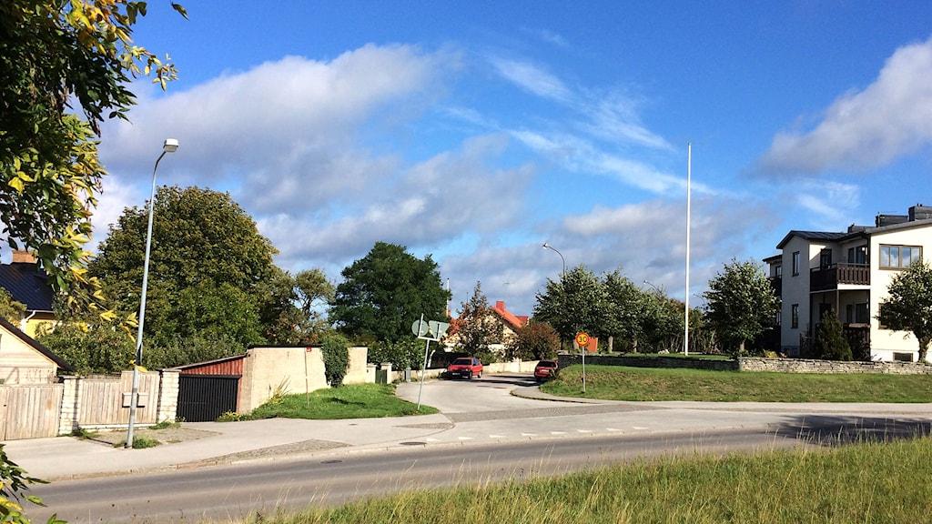 Bergsgatan ovanför Norderport. Foto: Sveriges Radio Gotland