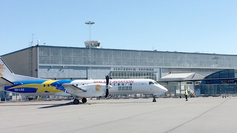 Stockholm Bromma flygplats. Foto: Sveriges Radio Gotland